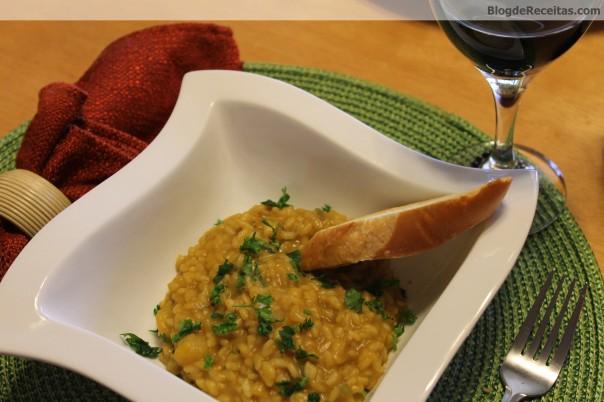 risotto de abóbora