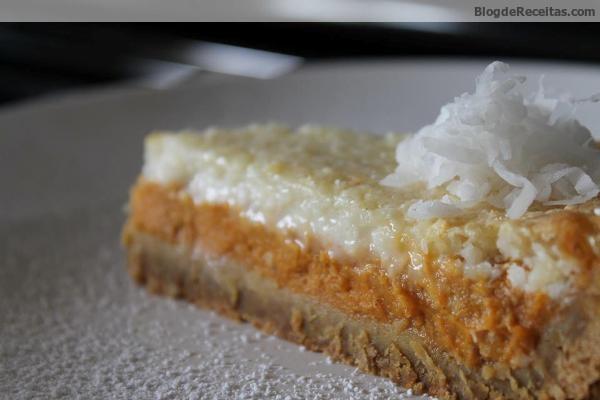torta de abobora com coco